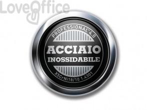 Timbro autoinchiostrante personalizzab. 8 righe Trodat PROFESSIONAL 5558/PL 4.0 in acciaio 56x33 mm acciaio - 120204