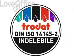 Timbro autoinchiostrante con testo RICEVUTO Trodat PROFESSIONAL 5460/L1 in acciaio 56x33 mm acciaio - 120416