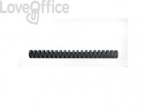 Dorsi plastici a 21 anelli GBC CombBind 16 mm a4 nero - 4028600 (conf da 100)