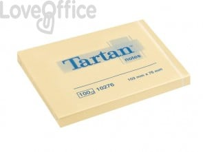 Foglietti riposizionabili Tartan™ 100 ff giallo 102 x76mm conf. da 12 blocchetti - 657 Yellow