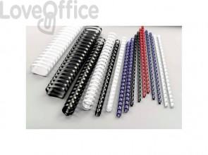 Dorsi plastici a 21 anelli GBC CombBind 28 mm a4 nero conf da 50 dorsi - 4028183