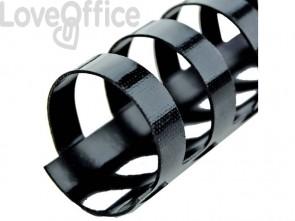 Dorsi plastici a 21 anelli GBC CombBind 19 mm a4 nero conf da 100 dorsi - 4028601