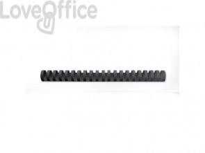 Dorsi plastici a 21 anelli GBC CombBind 25 mm a4 nero conf da 50 dorsi - 4028182