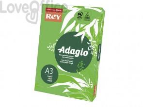 Carta colorata A3 verde intenso INTERNATIONAL PAPER Rey Adagio 80 g/m² - 29,7x42 cm (risma 500 fogli)