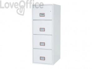 Classificatore ignifugo Phoenix bianco - Ral 9003 2 cassetti da 49lt. con serratura elettronica R3 - FS 2252 E