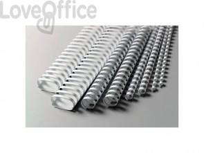 Dorsi plastici a 21 anelli GBC CombBind 14 mm a4 bianco - 4028198 (conf da 100)