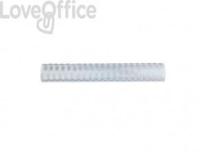 Dorsi plastici a 21 anelli GBC CombBind 38 mm a4 bianco conf da 50 dorsi - 4028205