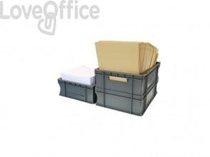 Cassa di movimentazione in PPL Viso 300x400x230 mm grigio E4322