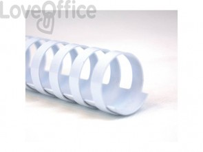 Dorsi plastici a 21 anelli GBC ComBind 12 mm a4 bianco - 4028197 (conf da 100)