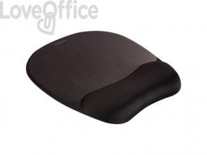 Tappetino mouse con poggiapolsi FELLOWES Memory nero 9176501