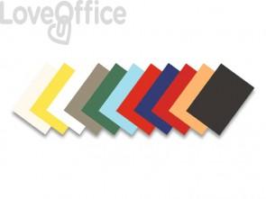 Copertine per rilegatura FELLOWES Delta goffrate cartoncino giallo A4 250 g/m² 29,8x21 cm - 5370503 (conf.100)