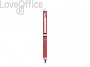Penna 4 funzioni a scatto Osama Quadra - rosa OD 1024ITG/1 RA