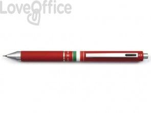 Penna 4 funzioni a scatto Osama Quadra - rosso OD 1024ITG/1 R