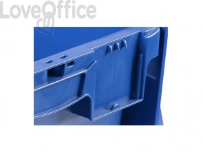Cassa impilabile Viso 400x300x250 mm blu  DSW4325
