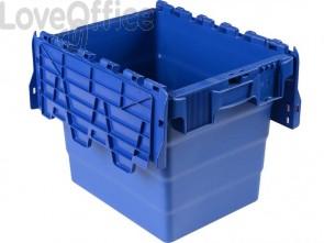 Cassa impilabile Viso 400x300x320 mm blu  DSW4332