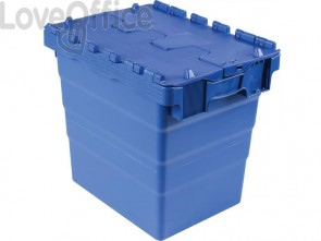 Cassa impilabile Viso 400x300x365 mm blu  DSW4336
