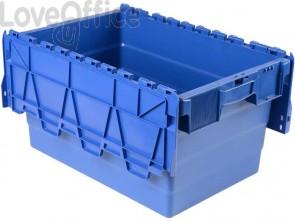 Cassa impilabile per alimenti Viso 600x400x315 mm blu DSW5536