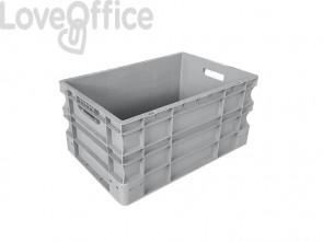 Cassa di movimentazione in PPL Viso 600x400x290 mm grigio E6428