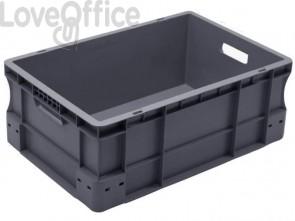 Cassa di movimentazione in PPL Viso 400x600x230 mm grigio E6420