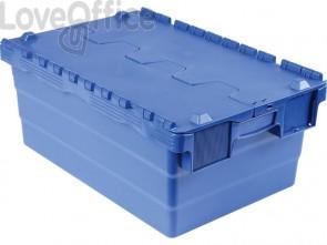 Cassa impilabile Viso 600x400x250 mm blu  DSW5527