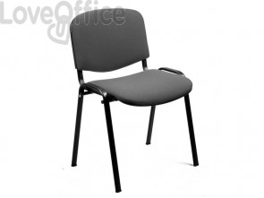 Sedia visitatore Unisit Dado 4 gambe - schienale fisso grigio chiaro D5S/4/EI