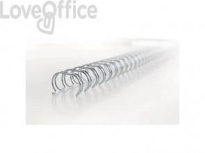 Spirali metalliche a 34 anelli GBC WireBind W18 12 mm a4 nero conf da 100 spirali - RG810810