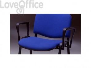 Braccioli fissi Unisit Dado per sedia 4 gambe nero ACCBRDAF2