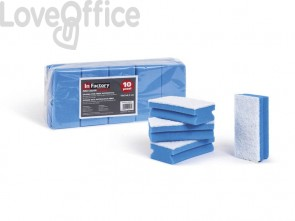 Spugna con abrasivo perfetto factory Pro Color spugna blu /abrasivo bianco conf. 10 pz. - 0220C
