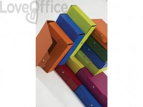 Cartella portaprogetti con bottoni BREFIOCART in presspan 25x35 cm dorso 8 cm blu scuro - 020E7614.BS