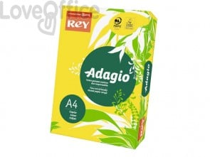 Cartoncini colorati A4 giallo intenso INTERNATIONAL PAPER Rey Adagio 160 g/m² (risma 250 fogli)