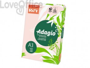 Carta colorata A3 rosa INTERNATIONAL PAPER Rey Adagio 80 g/m² - 29,7x42 cm (risma 500 fogli)