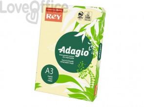 Cartoncini colorati A3 giallo canarino INTERNATIONAL PAPER Rey Adagio - 160 g/m² (risma 250 fogli)