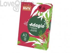 Cartoncini colorati A3 rosso intenso INTERNATIONAL PAPER Rey Adagio - 160 g/m² (risma 250 fogli)