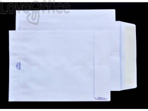 Buste a sacco bianche Pigna Envelopes Competitor strip Large soffietti 4 cm 100 g/m² 230x330 mm  conf. 250 - 0063558