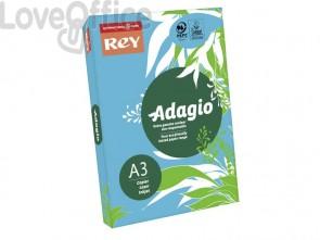 Cartoncini colorati A3 blu intenso INTERNATIONAL PAPER Rey Adagio 160 g/m² (risma 250 fogli)