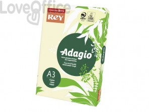 Carta colorata A3 avorio INTERNATIONAL PAPER Rey Adagio 80 g/m² - 29,7x42 cm (risma 500 fogli)