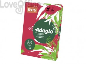 Carta colorata A3 rosso intenso INTERNATIONAL PAPER Rey Adagio 80 g/m² (risma 500 fogli)