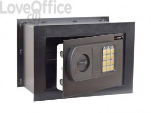Cassaforte da muro i.DEKT con chiusura elettronica + 2 chiavi d'emergenza nero mm. 330x200x230