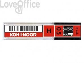 Astuccio mine per portamine KOH-I-NOOR 0,5mm - gradazione H - E205-H (conf.12 mine)