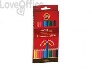 Astuccio matite multicolore acquerellabili KOH-I-NOOR legno di cedro 12 matite