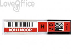 Astuccio mine per portamine KOH-I-NOOR 0,7mm - gradazione H - E207-H (conf.12 mine)