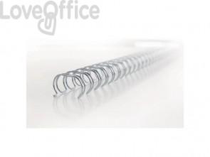 Spirali metalliche a 34 anelli GBC WireBind 14 mm a4 nero conf da 100 spirali - RG810910