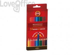 Astuccio matite multicolore acquerellabili KOH-I-NOOR legno di cedro 24 matite