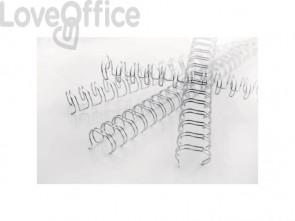 Spirali metalliche a 34 anelli GBC Wirebind 11 mm a4 nero conf da 100 spirali - RG810710
