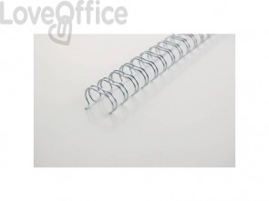 Spirali metalliche a 34 anelli GBC Wirebind 6 mm a4 nero conf da 100 spirali - RG810410
