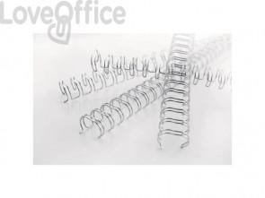 Spirali metalliche a 34 anelli GBC Wirebind 8 mm a4 nero conf da 100 spirali - RG810510