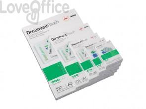 Pouches piccoli formati GBC f.to businnes card 6x9 cm 2x125 µm lucido conf da 100 pouches - 3743157