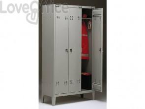 Spogliatoio Tecnical 2 a 3 posti acciaio 7/10 monoblocco B3