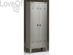 Spogliatoio Tecnical 2 a 2 posti acciaio 7/10 monoblocco B2