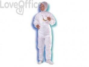 Tuta con cappuccio Icoguanti bianco XXL - TUT/XXL (conf. da 5)